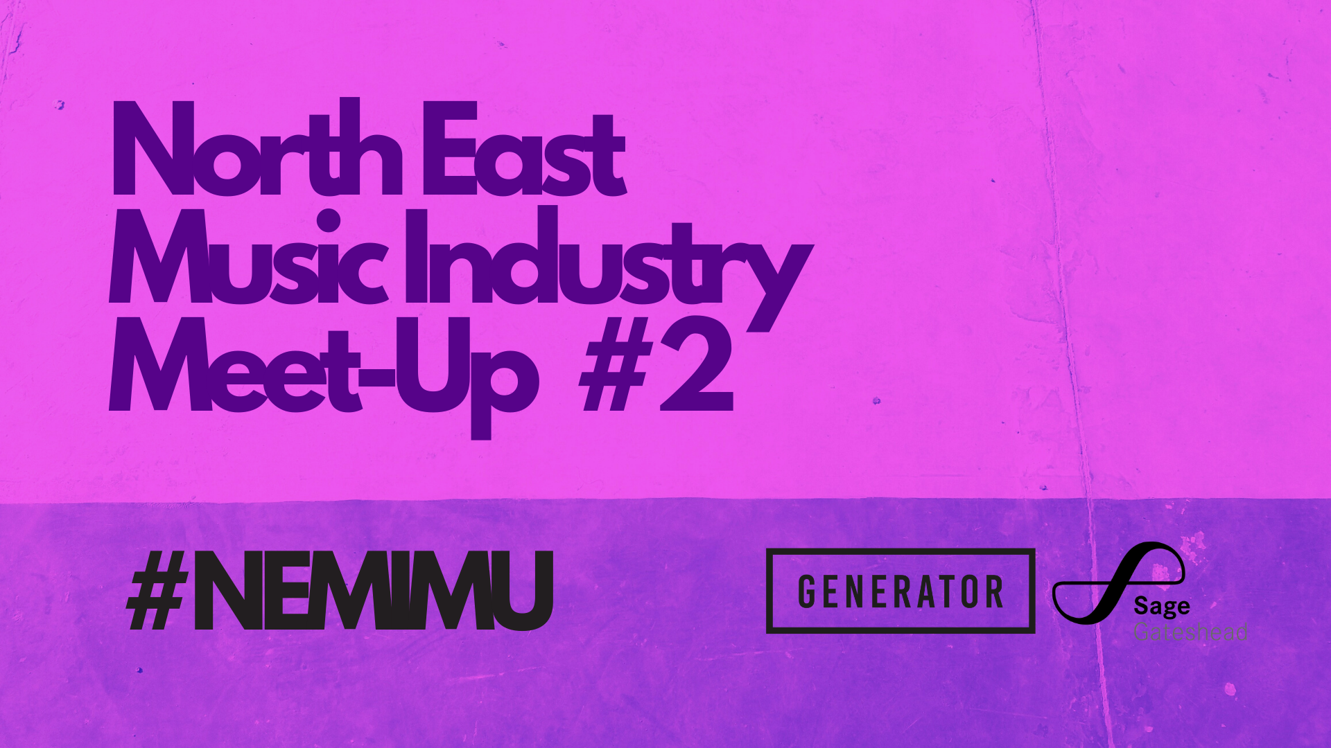 north east music industry meet up graphic