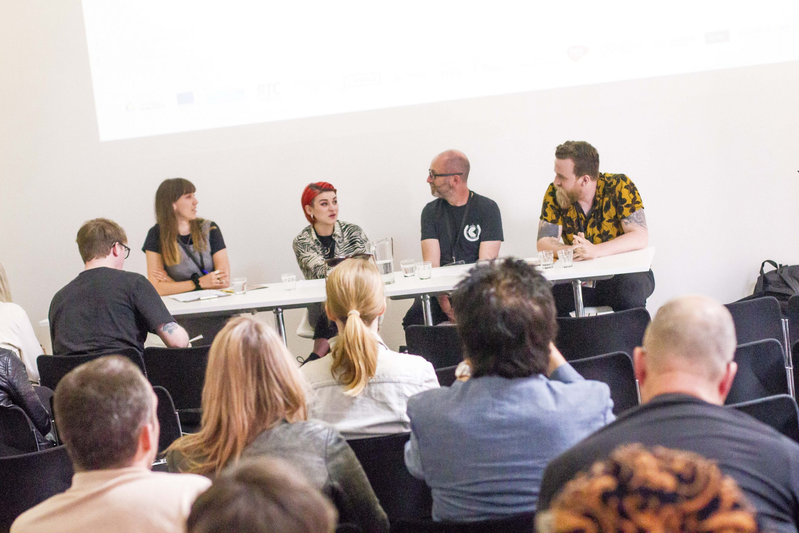 a panel discussion of musicians at the tipping point live conference in 2019